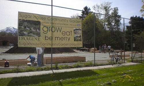 Let's turn that old tennis court into a community garden!
